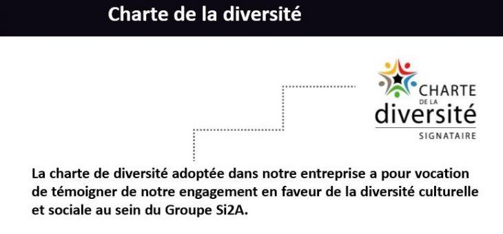 Groupe Si2A s'engage et signe la « Charte de la Diversité »